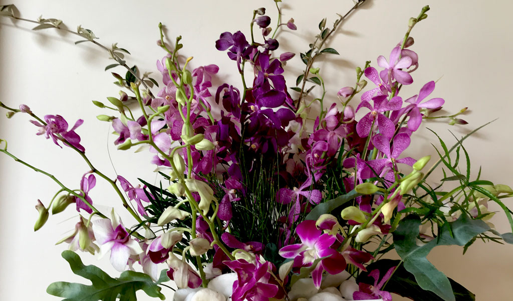 mokara-and-dendrobium-pink-to-purple-bouquet orchid afv