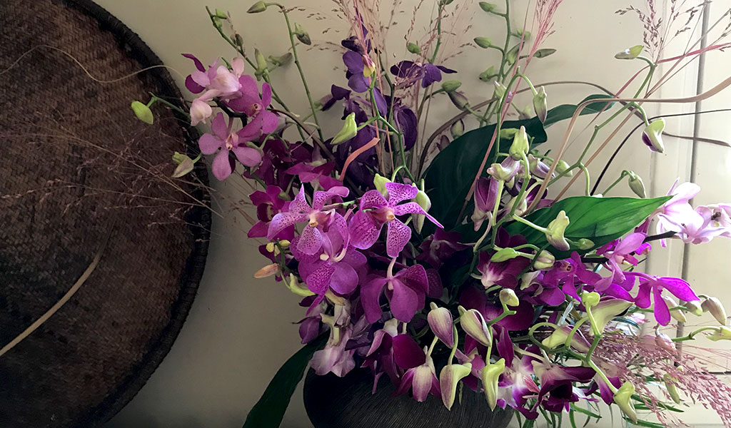 bouquet-purple-pink orchids afv